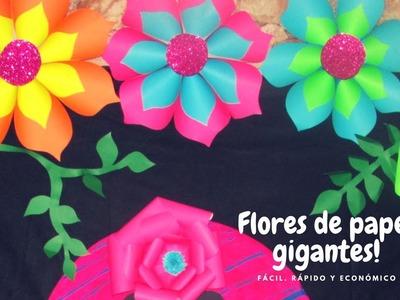 DIY COMO HACER FLORES DE PAPEL GIGANTES. NEÓN PARTY. NELU