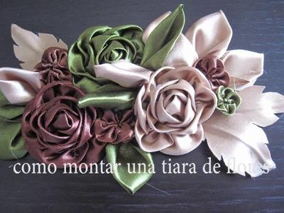 #DIY - #como montar cinturon matenal o tiara de flores