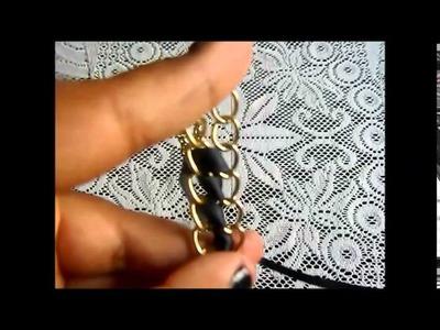 DIY - Pulsera y Collar de cinta.