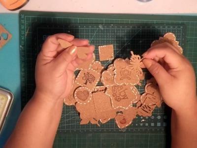 Embellecedores con corcho para scrap (Nº4)