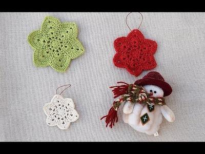 Estrellas de Navidad a crochet muy fácil y rápidas