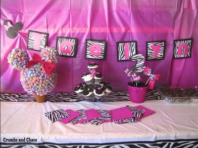 Fiesta de Minnie mouse con ideas de decoración -  Minnie Mouse party decorating ideas