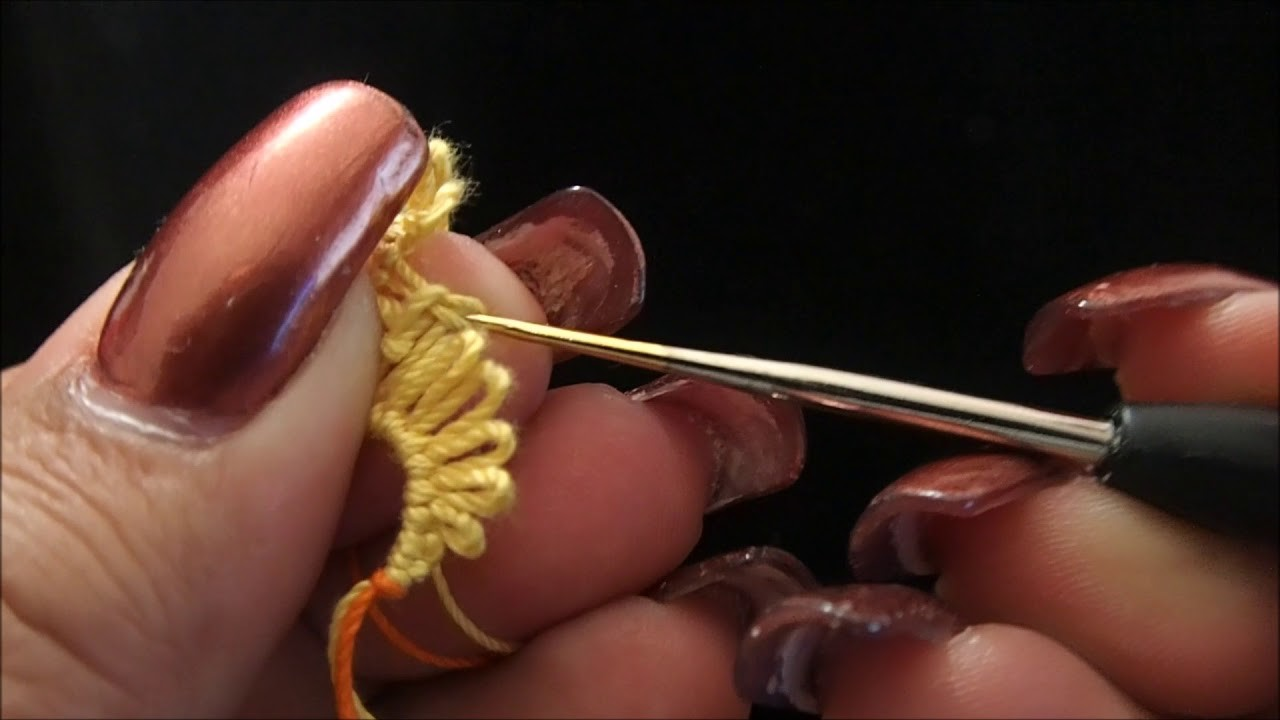 Frivolite Tatting Lesson 173 Herringbone hookup - Enlace de Espiga
