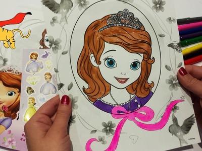 ♥ Juegos colorear ♥ Unboxing y Colorear dibujo de la Princesa Sofia