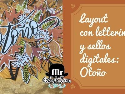Layout con lettering y sellos digitales Otoño