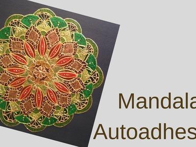 Mandala Autoadhesivo para pegar en la Puerta en Navidad o todo el Año