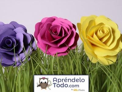 Manualidades: Cómo Hacer Una Hermosa Rosa En Papel O Cartulina