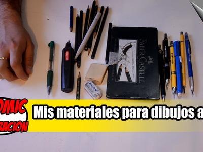 MATERIALES DE DIBUJO | Mis materiales para cómic e ilustración a lápiz