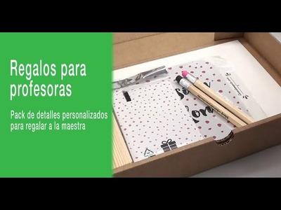 Pack de regalos originales para profesoras