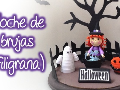 Set noche de brujas de filigrana, Quilling halloween night set