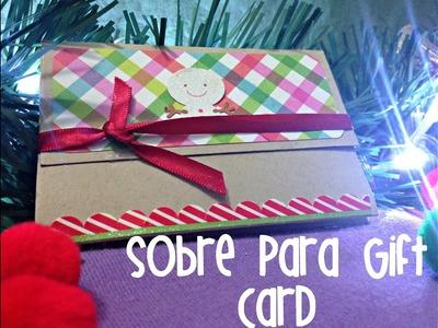 Sobre para Gift Card