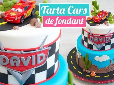TARTA CARS DE FONDANT ???????? | CARS CAKE | Quiero Cupcakes!