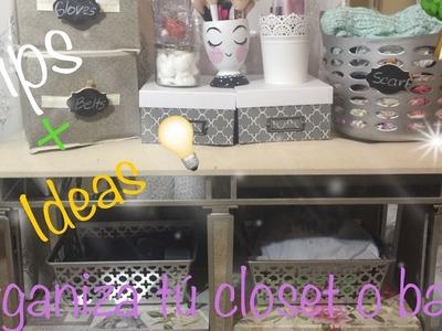 Tips+Ideas????para organizar en sus closet+baños||Suscribanse.