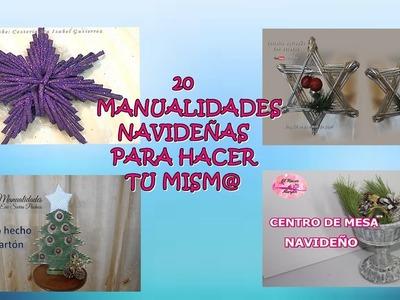 20 MANUALIDADES NAVIDEÑAS FACILES PARA HACER TU MISM@