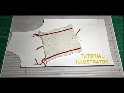 27. Tutorial: Grid for Knitters in Illustrator. Cuadrícula para Tejedores en Illustrator.