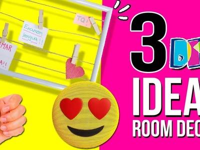 3 IDEAS fáciles y Baratas para decorar tu HABITACIÓN * DIY MANUALIDADES ROOM DECOR