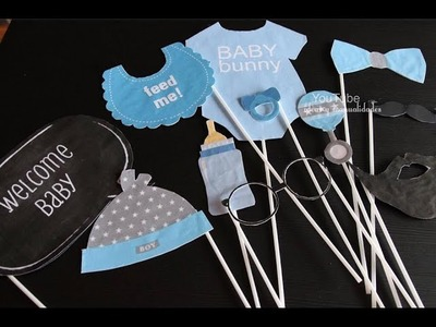 Accesorios para selfies Baby Shower | Photo booth | Photo call