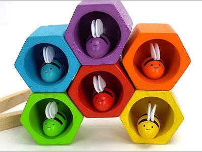 Aprende los Colores con Abejitas de Juguete