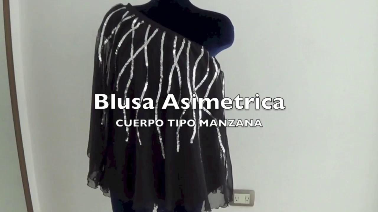 Blusa Asimetrica  Para Gorditas  Cuerpo Manzana - Jazmin Gastelum