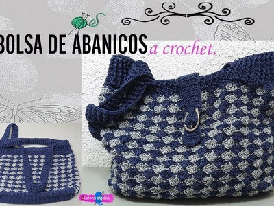 BOLSA DE ABANICOS A CROCHET. | Labores Angélika |