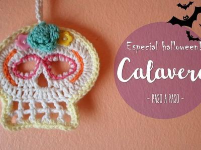 Calaveras a crochet para halloween