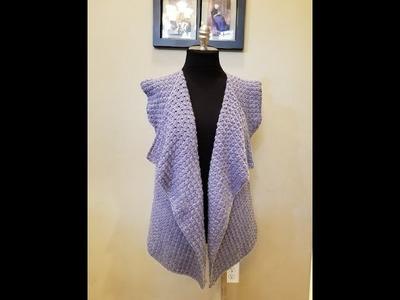 Chaleco rectangular a crochet. Easiest reactangular crochet vest