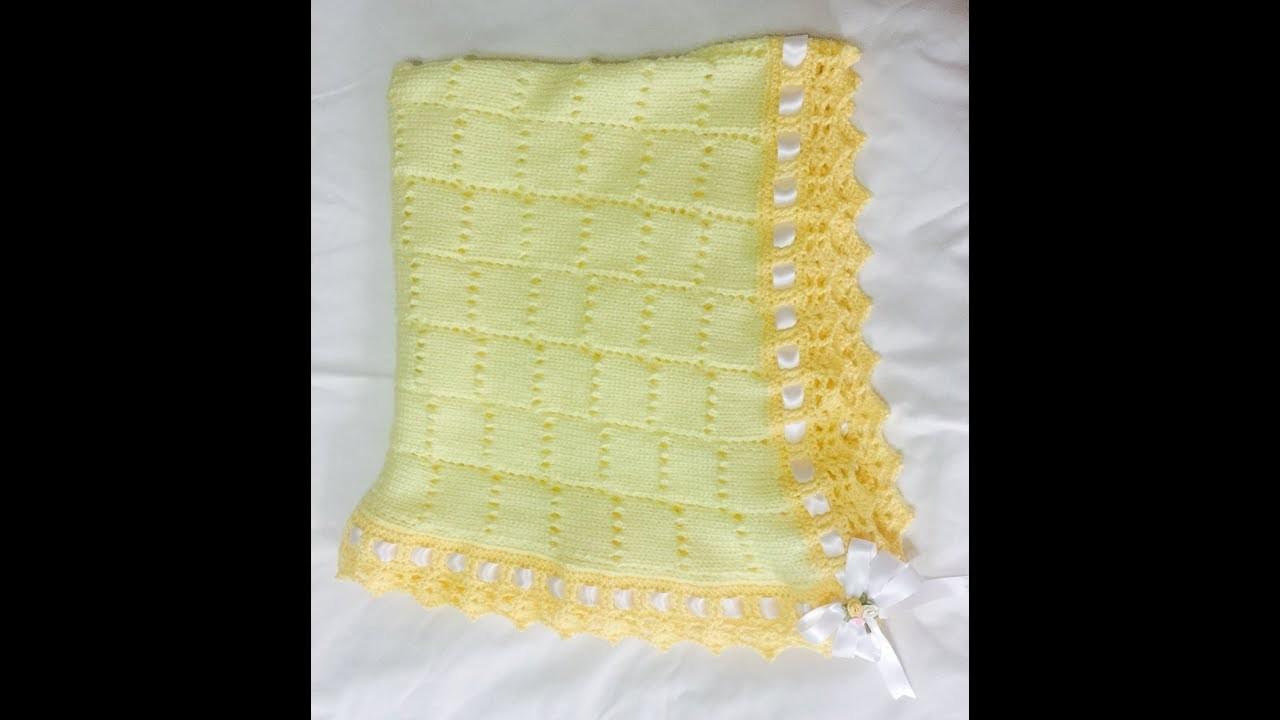 Cobija de bebe. Baby Blanket  (A maquina)