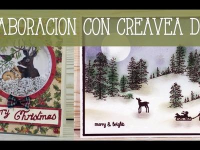 Colaboración con Creavea Día 3: tarjetas navideñas