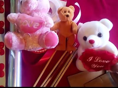 ♥♥♥COMO ENVOLVER UN PELUCHE PARA REGALO♥♥♥---Dia de la amistad. Valentines Day