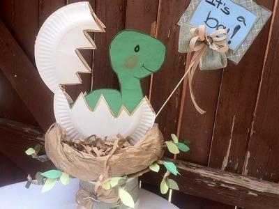 Como hacer un centro de mesa para baby shower - Boy or Girl Dinosaur | ???? Casa Boutique ????