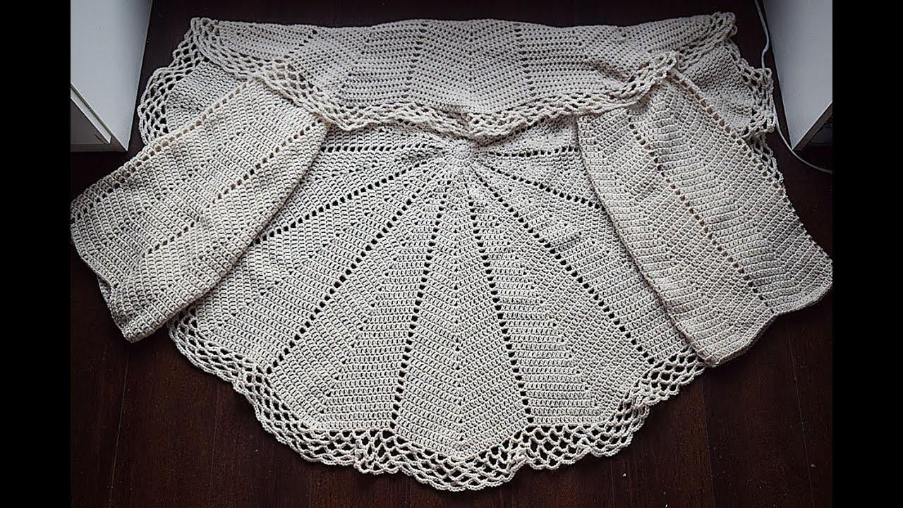 Como hacer una chaqueta a  crochet en redondo  muy fácil y rápida