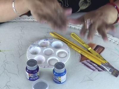 Como pintar un pie de árbol parte 1. colaboración Hugo Espinosa y Miss Dorylu.