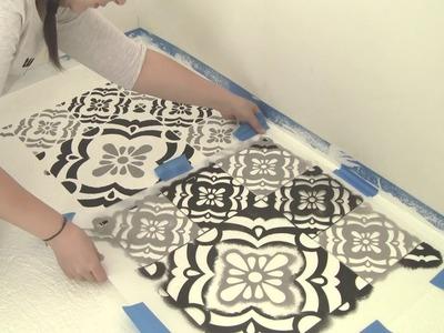Cómo Pintar un Piso de Cemento con Stencil
