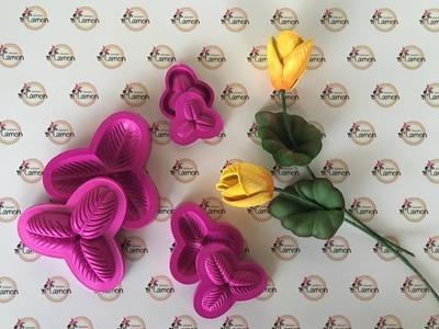 Creaciones Mamen Como hacer un tulipán con moldes paso a paso
