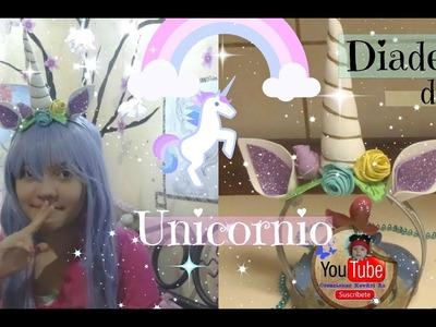 Diadema de Unicornio???? DIY Unicorn Headband.Cuerno de UNICORNIO #Tutorial
