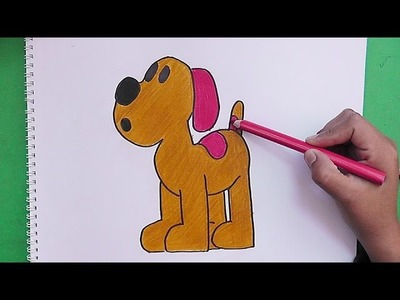 Dibujando y pintando a Loula (Pocoyo) - Drawing and painting to Loula