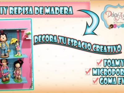 DIY ♥ DECORA TU ESPACIO CREATIVO ♥ REPISA DE MADERA ♥