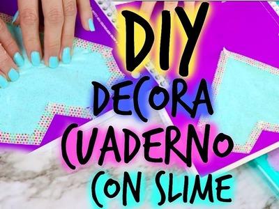 DIY: DECORA TUS CUADERNOS CON SLIME ???? BeautyByPriscila