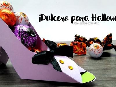 DIY Dulcero Halloween: Zapato De Bruja *PaperCraft*   - Brotes de Creatividad