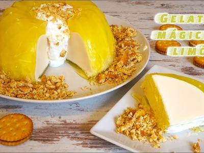 Gelatina mágica de limón o gelatina flotante