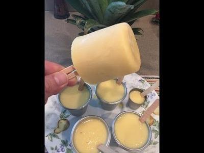 HELADOS de Piña con leche Condensada.Pineapple Popsicle-2017Que la Piña esté bien madura
