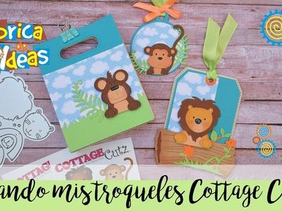 Ideas usando troqueles de cottage cutz de animalitos!!