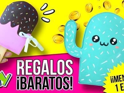 ¡¡5 IDEAS para REGALAR por menos de 1 EURO!! ???? Regalos BARATOS DIY para amigo invisible