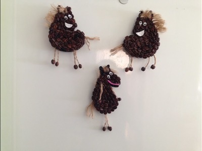 Imanes para la nevera en forma de caballos Magnet for the fridge in the form of horses