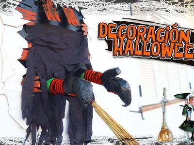 Manualidades para Halloween. La Bruja estrellada en la pared!