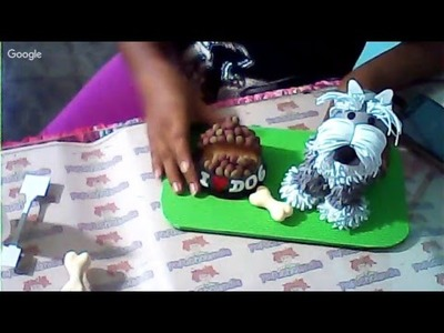 Plato de alimento para fofucho perro