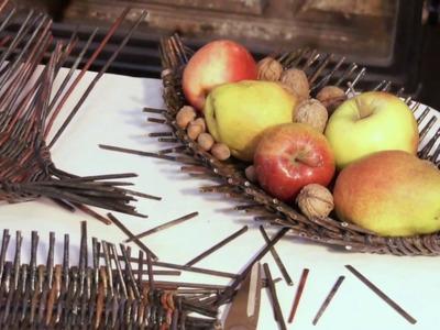 Plato para frutas en forma de un erizo