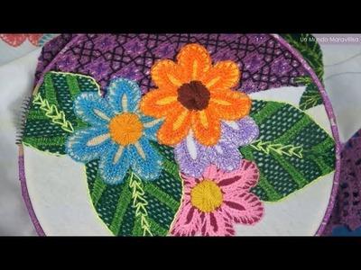 [Puntada Fantasía] Flor pequeña - Berenjena | Un Mundo Maravillisa