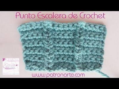 Punto Escalera de Crochet