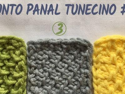 Punto panal tunecino #3 (colmena, nido de abeja, smock) - Crochet tunecino